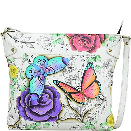 - Anna by Anuschka Leather Convertible Tote-Floral Paradise