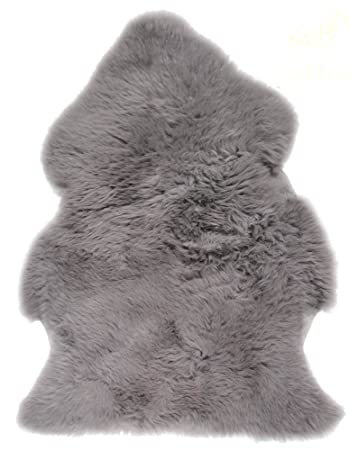 Lambland Hand Finished Genuine Double Large Sheepskin Rug / Skin / Pelt In  Slate Grey