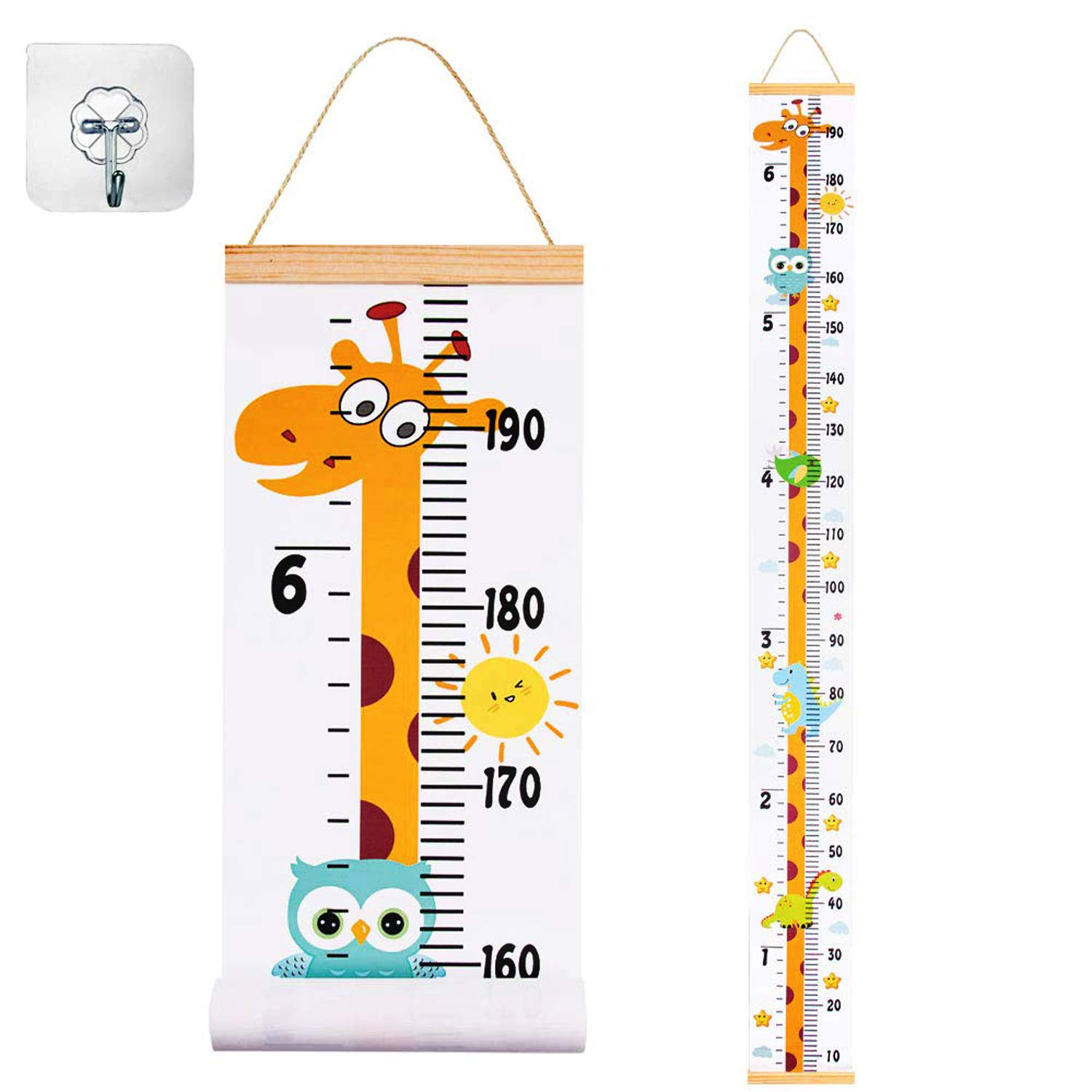 79 x 8 Inch Baby Growth Chart Baby Height Chart Removable Canvas ...