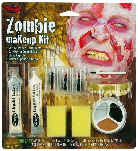 Zombie Halloween Special Effects Make Up Fancy Dress - Male (Special Effects For Halloween Uk)