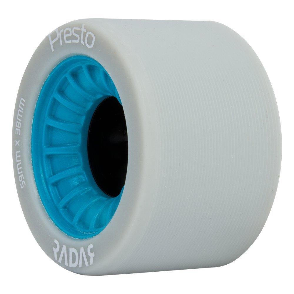 Radar Wheels - Presto - Roller Skate Wheels - 4 Pack of 59mm x 38mm Wheels | Blue | 95A Hardness