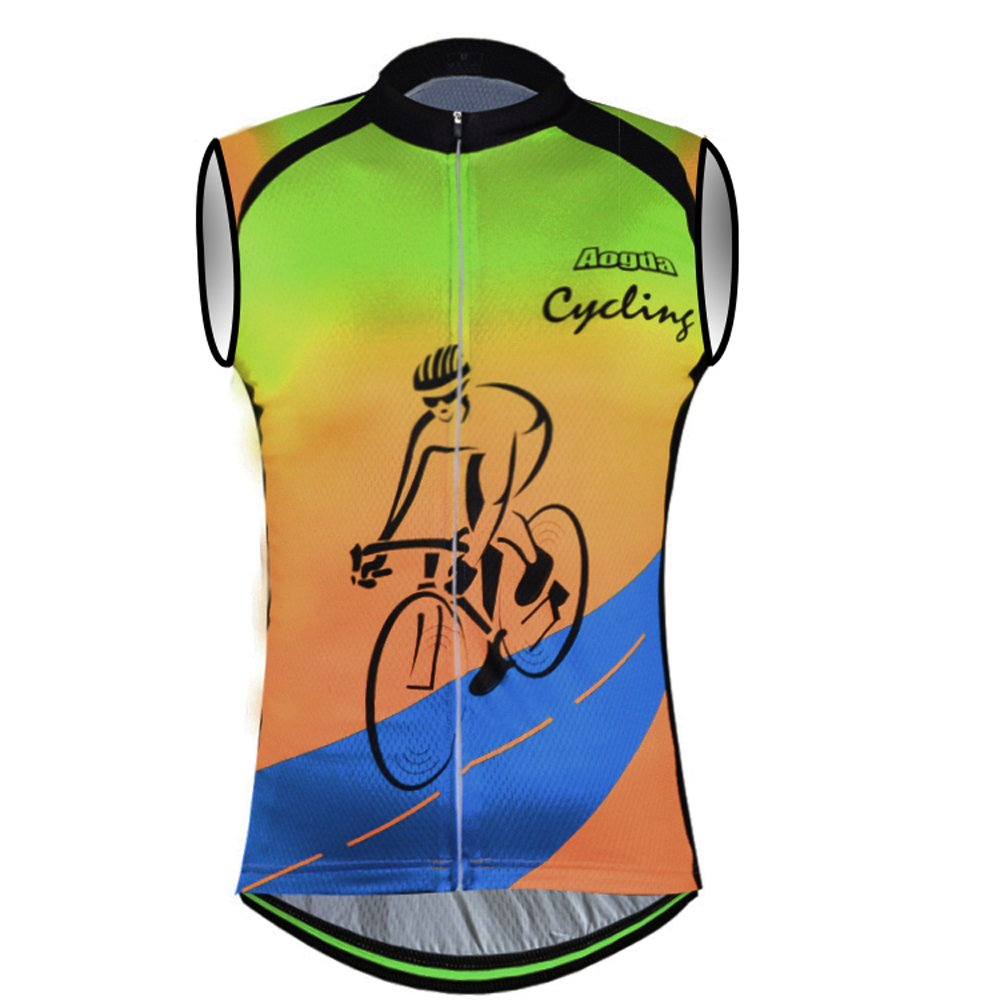 cc3986e07 Amazon.com   Aogda Sleeveless Cycling Jerseys Men Bike Shirt Biking Clothing  Vests   Sports   Outdoors