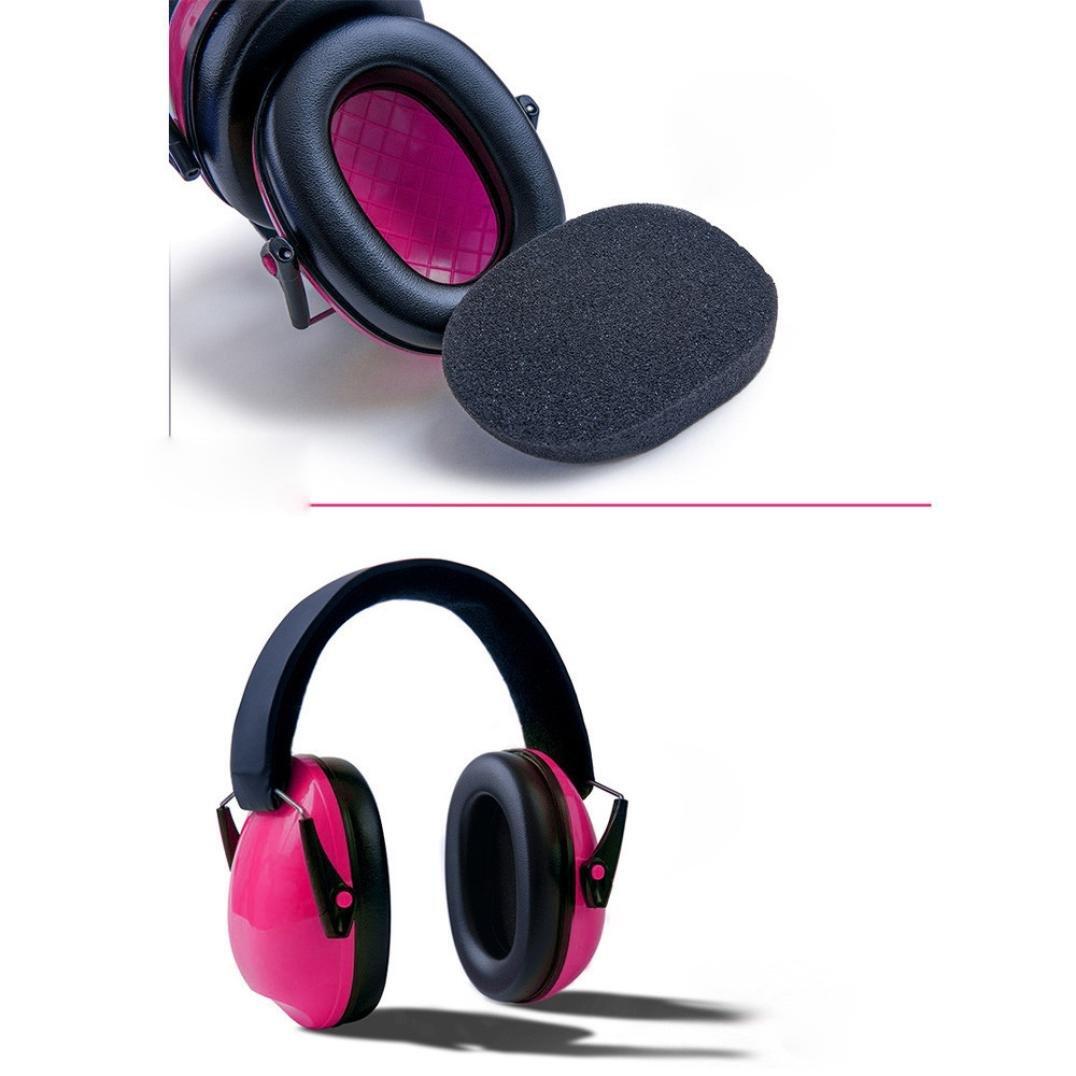 Hearing Protection Eat Muffs, SUKEQ Baby Kids Anti-noise Earmuffs Headset Adjustable Foldable Noise Cancelling Headphone Headband Ear Defenders for Children, Infants (Blue)