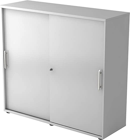 Lüllmann 3OH RE - Armario con puerta corredera (120 cm), color gris: Amazon.es: Hogar