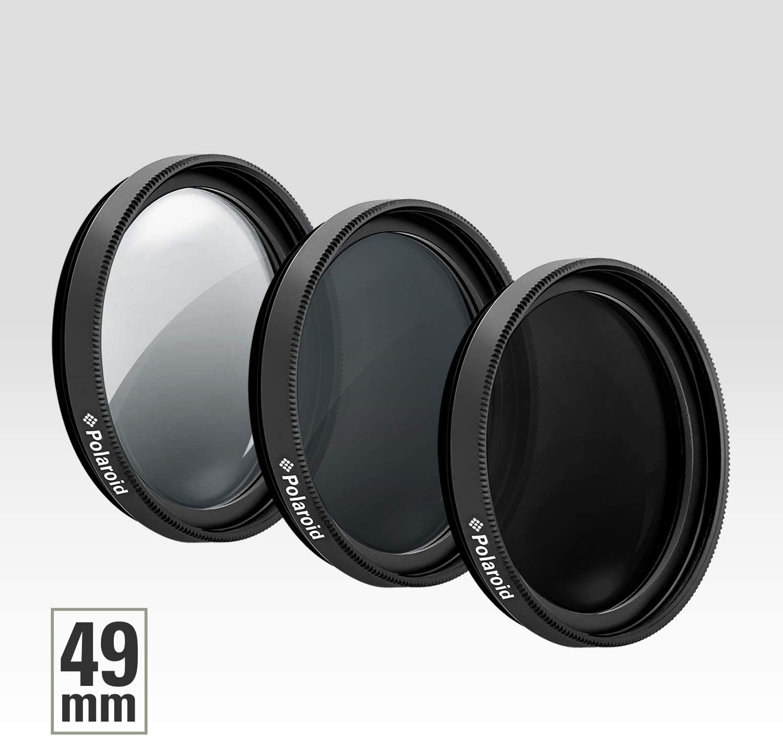 ND6 Pro-Grade 3-Piece Photography Filter Set ND3 ND9 and Bonus Filter Case ND Polaroid Optics 77mm Neutral Density