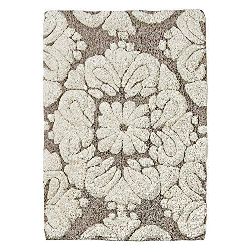Better Trends / Pan Overseas Medallion 170 GSF 100-Percent Cotton 2-Piece Luxury Tufted Bath Rug Set, 24 by 40-Inch/17 by 24-Inch, Beige/Natural