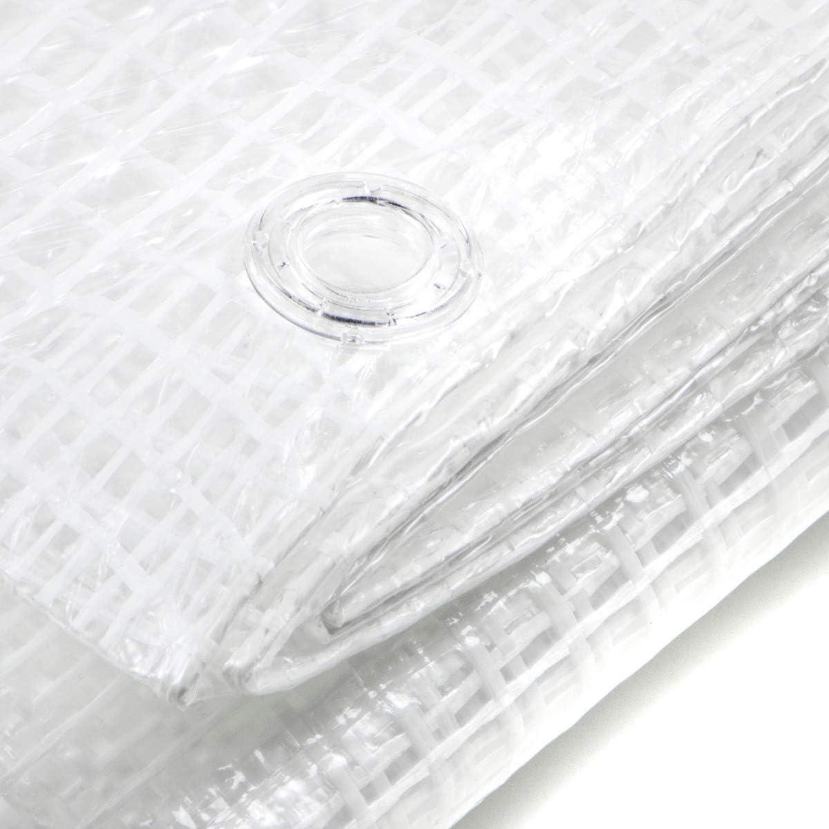TELONE OCCHIELLATO RETINATO IN PVC RINFORZATO da 140 gr.//mq. Misura 3,5x4,0 mt.