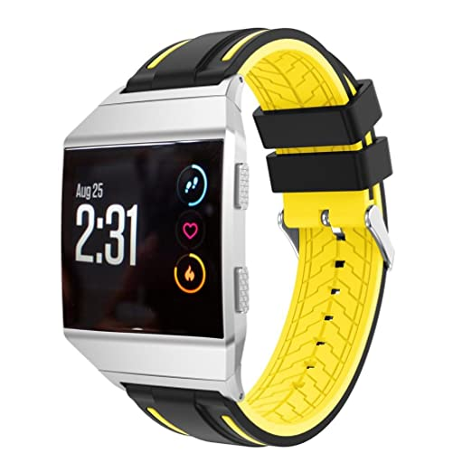 Fullfun Soft Silicone Replacement Sports Watchbands For Fitbit Ionic Watch