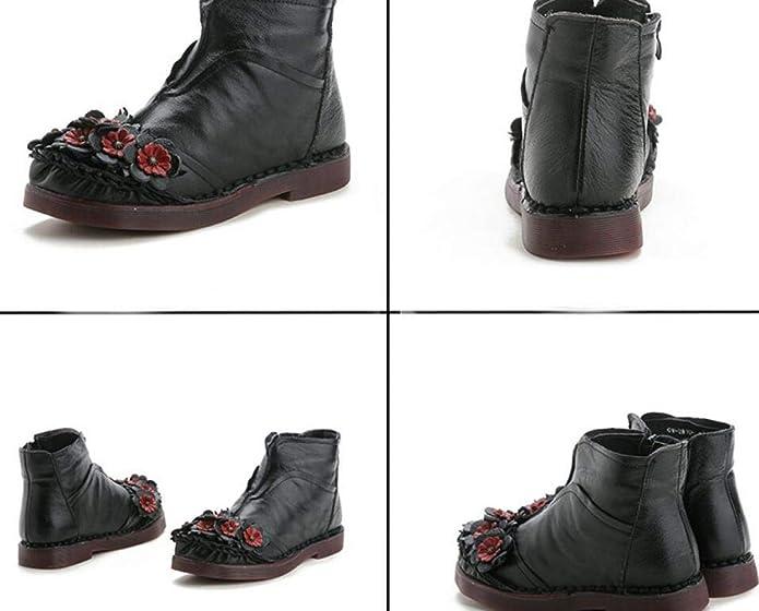 Botines Otoño E Invierno Botas Martin Botas Nacionales De Mediana Edad Botas  De Algodón  Amazon.es  Zapatos y complementos 4ee1c35502245