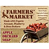 Farmers' Market Natural Bar Soap, Apple Orchard, 5.5 Ounce (Pack of 2)