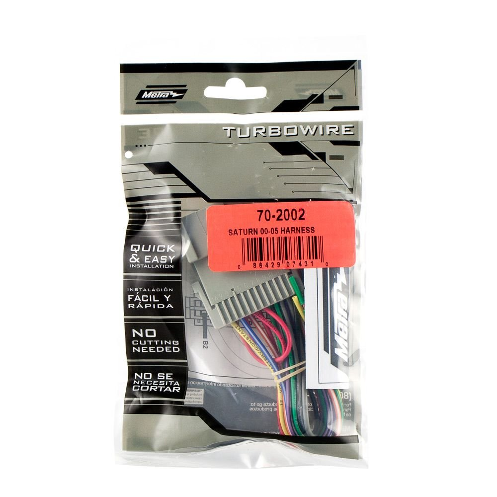 Metra 70 2002 Radio Wiring Harness For Saturn 00 05 Car 200 Sl Diagram Electronics