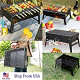 Portable Charcoal Steel Grill Backyard BBQ Barbecue Outdoor Camping
