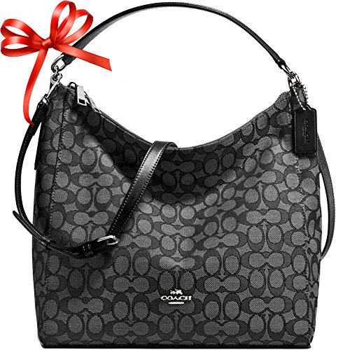 SALE ! New Authentic COACH Celeste Monogram Large Shoulder bag in Gorgeous Grey & Black !