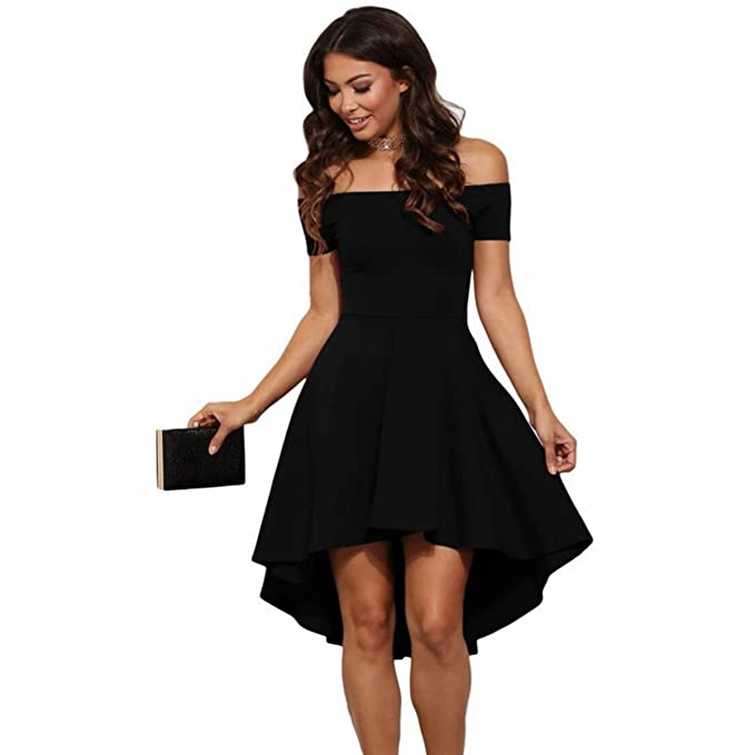0e868a2312 MAGNA Women s Cotton Off Shoulder Skater Dress (MAG78