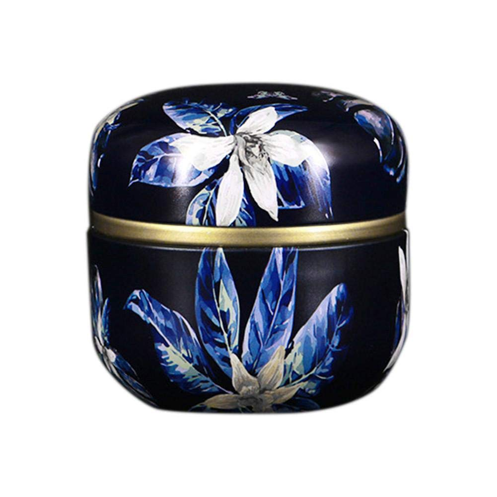 Duhe Tea Caddy Can Universal Seal Small Metal Mini Portable Eco-Friendly Odorless Travel Round Can Iron Box