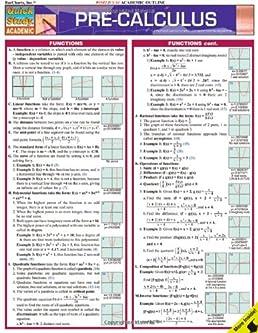 pre calculus quick study academic inc barcharts 9781423202486 rh amazon com Statistics Study Guide Geometry Study Guide
