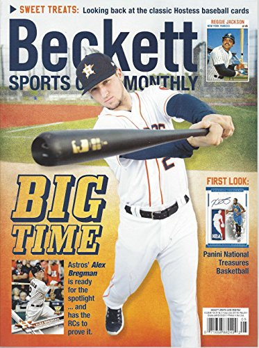 newest-guide-beckett-sports-card-monthly-price-guide-april-6-2017-release-a-bregman-cover
