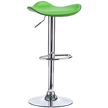 Hochwertige küchenhocker  EUGAD Barhocker 1er Grün, verchromter Stahl und hochwertiger ...
