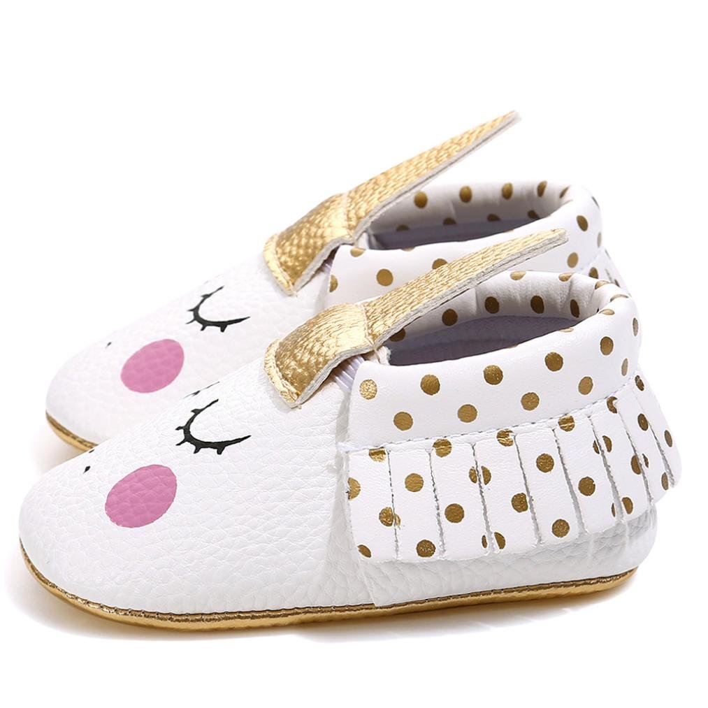 Voberry@ Baby Girl Moccasins Eyelash Tassels PU Leather Loafers Toddler First Walkers Kid Shoe