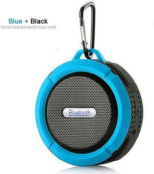 Qiyan Caja de Sonido para Exteriores Inalámbrico Mini Altavoz Bluetooth Subwoofer portátil Sistema de Sonido Envolvente Bluetooth Ducha Impermeable Altavoz en Altavoces portátiles Azul: Amazon.es: Electrónica