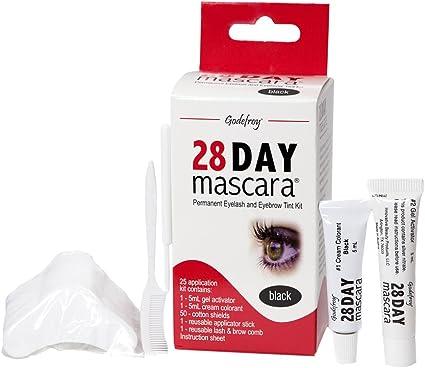 Godefroy kit de tinte de pestañas 28 Día máscara de pestañas permanente negro