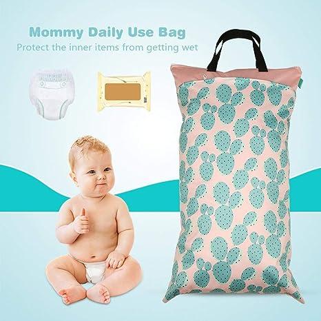 la bolsa de pa/ñales de doble cremallera impermeable para beb/és Lavable con pa/ñales bolsa de viaje 15.8 /× 27.6in EF231 Bolsa de pa/ñales tela seca y h/úmeda