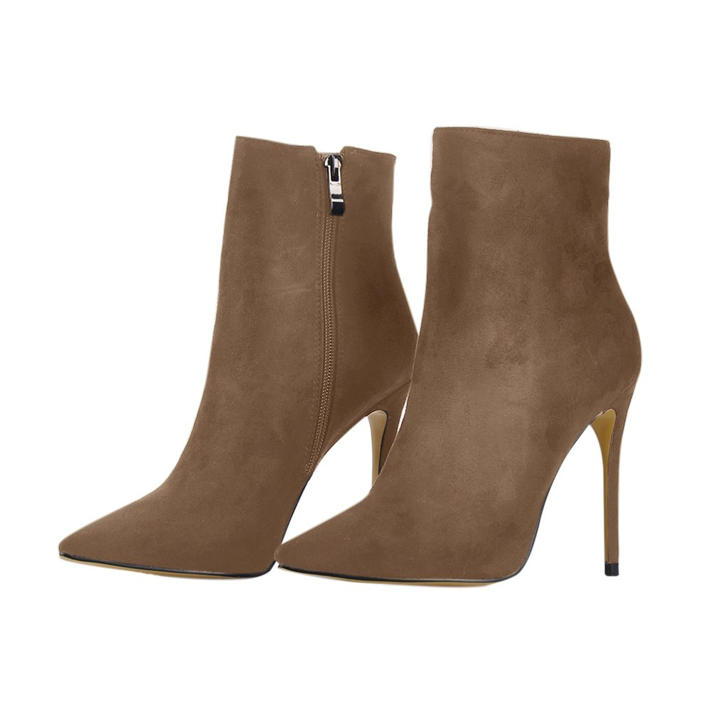 onlymaker Pointed Toe Ankle Boots for High Women Side Zipper Dress High for Heels Shoes Booties B078LYZN74 8 B(M) US Camel Suede b99c59