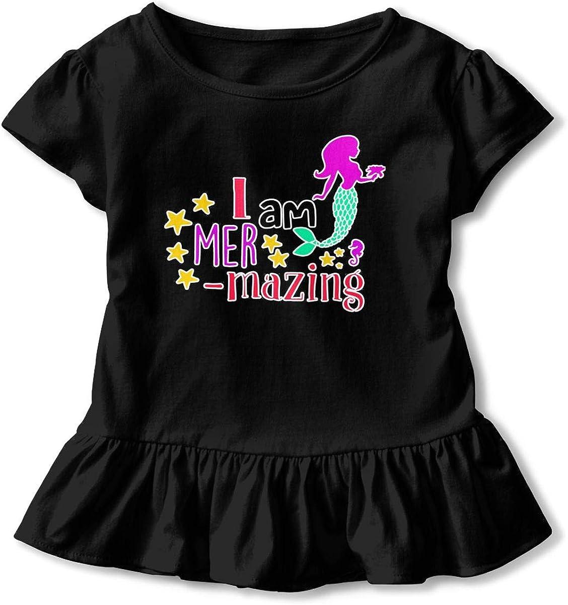 Charming Mermaids Baby Skirts Adorable Kids T Shirt Dress Soft Flounces Jumpsuit