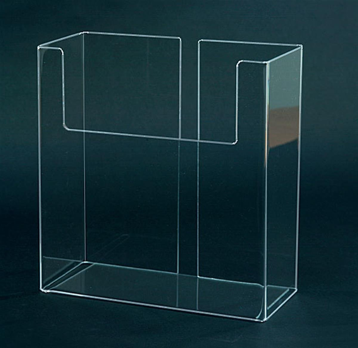 Displays2go Magazine Pocket for 8.5'' x 11'' Catalogs & Handouts, Set of 10, Clear Acrylic (LH875/EX)