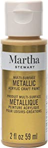 Martha Stewart Crafts Yellow Gold, 2 oz Martha Stewart 2oz Multi-Surface Metallic Acrylic Craft Paint