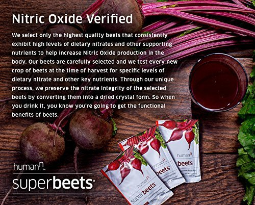 HumanN SuperBeets Circulation Superfood Concentrated Beet Powder Nitric Oxide Boosting Supplement (Black Cherry Flavor, 0.175-Ounce, 30 Packets) by HumanN (Image #3)