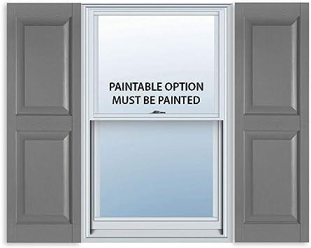Paintable 15 x 71 Perfect Shutters Premier Raised Panel Exterior Decorative Shutter