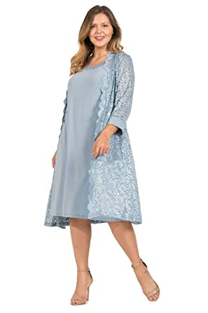 R&M Richards Short Mother of The Bride Dress Plus Size at Amazon ...