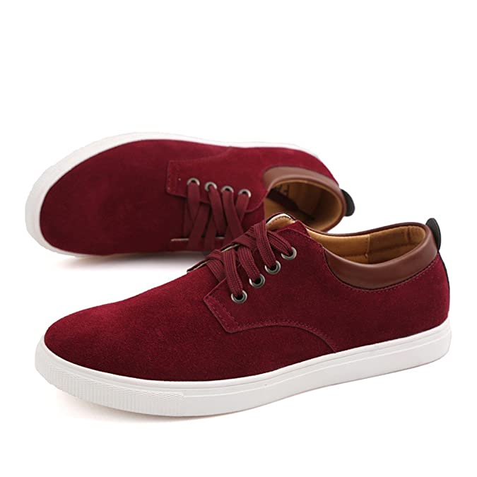 Amazon.com | ZhaoDao158 Mens Big Size Suede Comfortable Casual Flats Shoes | Fashion Sneakers