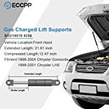 ECCPP Lift Supports Front Hood Struts Gas Springs