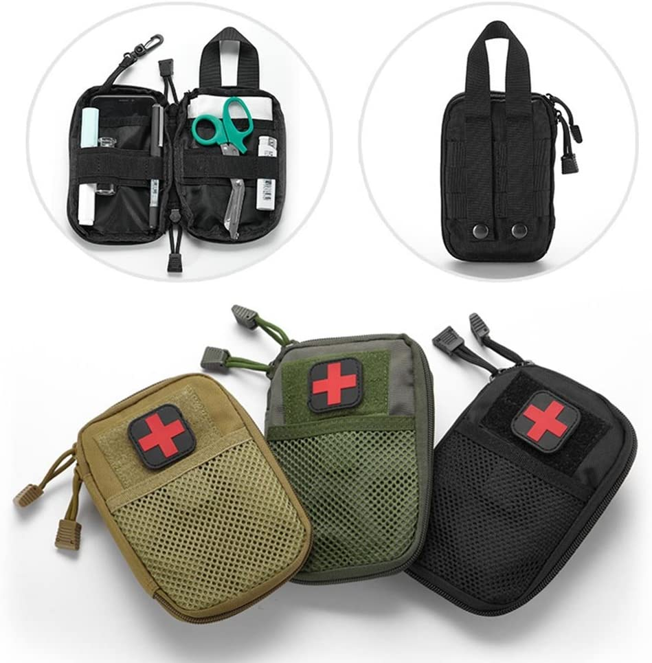 LIVIQILY Tactical Medical kit molle Accessory kit Camping First Aid Kits Medicine Storage Bag Portable Package Emergency Medical Kit Survival Medicine Pills Pocket Container Perfect (Army Green) : Sports & Outdoors