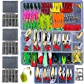 Bluenet 279pcs Fishing Lure Set Including Plastic Soft Lures Frog Lures Soft Fishing Lure Hard Metal Lure VIB Rattle Crank Popper Minnow Pencil Metal Jig Hook for Trout Bass Salmon from Bluenet
