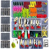 Bluenet 279pcs Fishing Lure Set Including Plastic Soft...