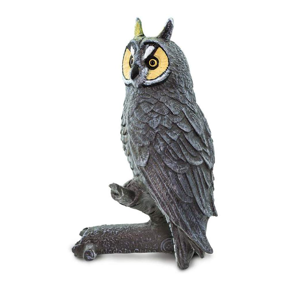 for Ages 3+ Safari Ltd Lead and BPA Free Phthalate Wings of The World Birds -Long Eared Owl