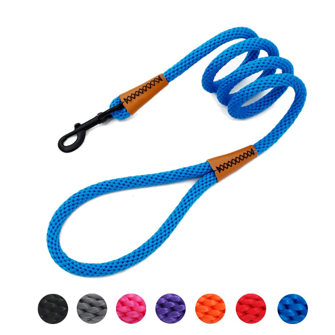 lynxking Braided Dog Leashes Rope Pet DogLeash Dog Traction Rope Leashes Dog Walking Training Lead for Medium Large Dogs (6Feet Royal Blue) by lynxking