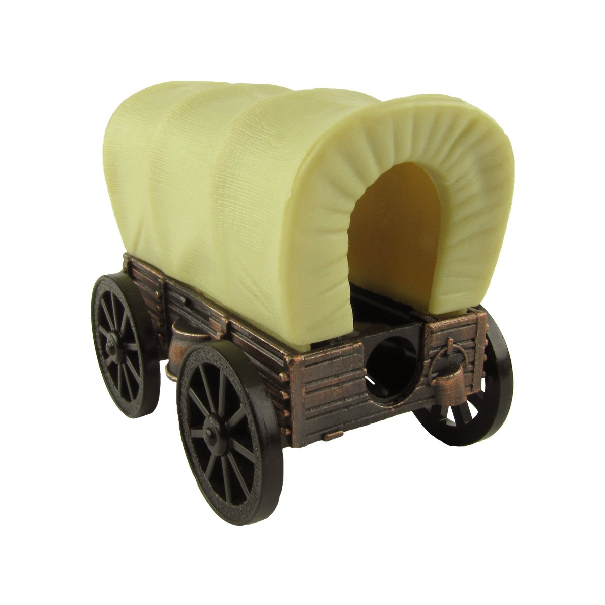 Amazon.com: Miniature Covered Wagon Die Cast Novelty Toy Bronze ...