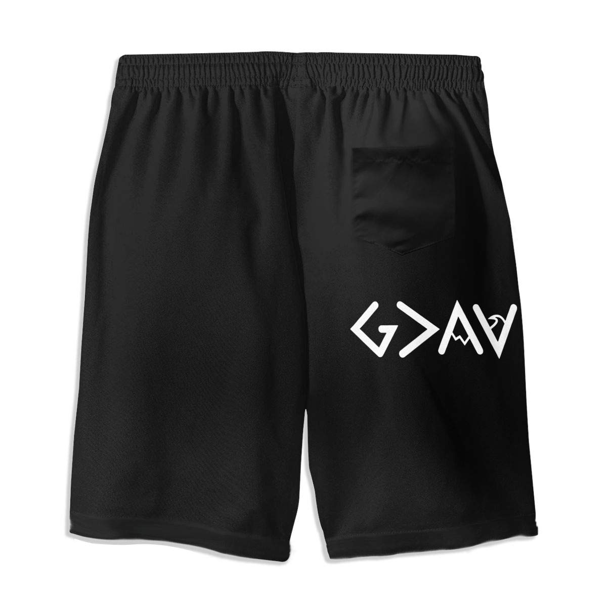 OPQRSTQ-O God is Greater Than The Highs and Lows Teen Mens Gym Casual Swimming Shorts Beach Board Shorts