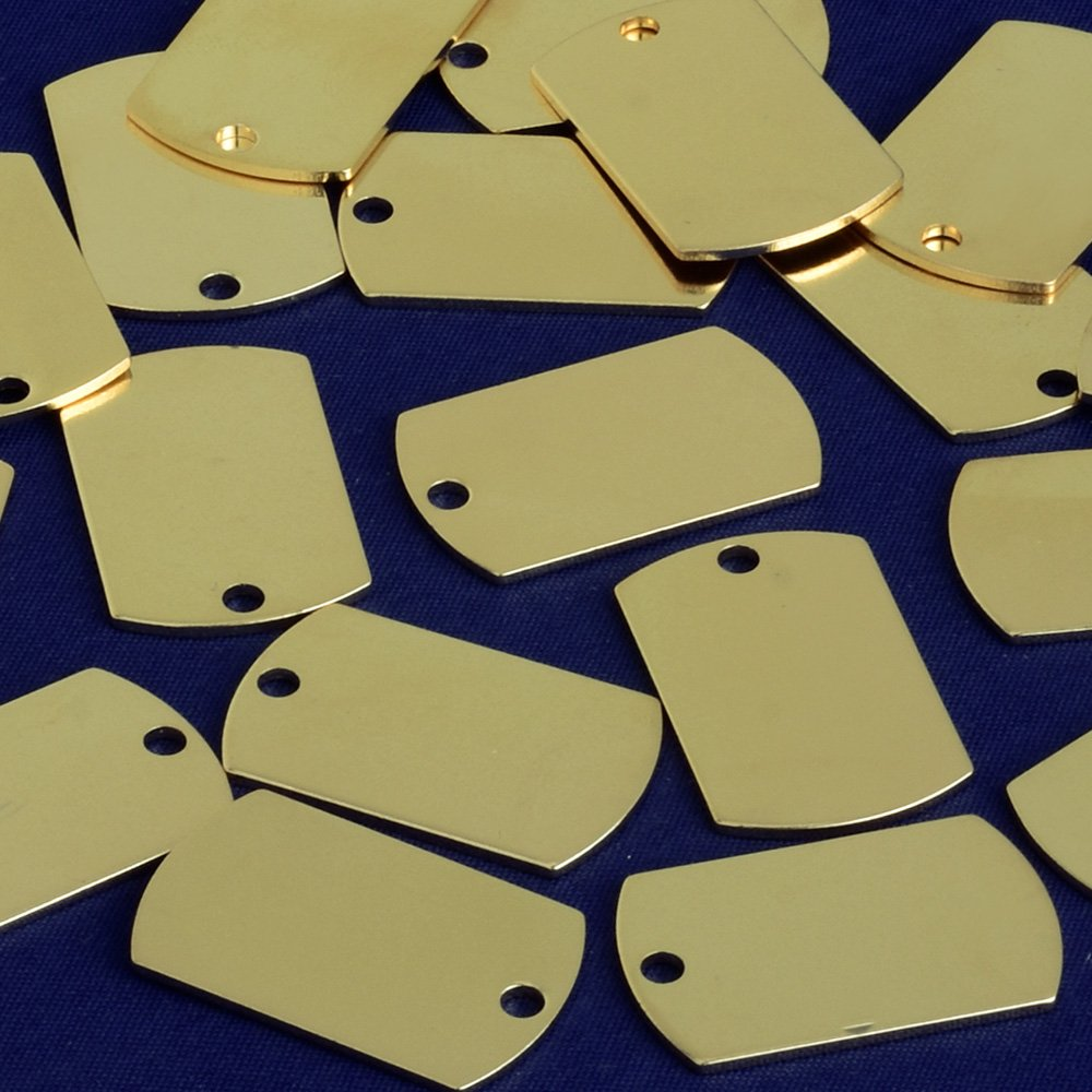 25x16mm Brass rectangle Stamping Blank Bar,necklace bar blanks,Name Plated,DIY Jewelry,Sold 20pcs//lot,gold plated