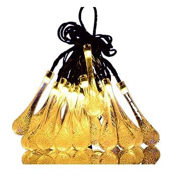 Weihnachtsbeleuchtung Tropfen.Aofeng Led Solarlichterkette Solar Lichterkette Wasserdicht Außenlichterkette Weihnachtsbeleuchtung Mit 30er Leds Beleuchtung Für Hochzeit Party