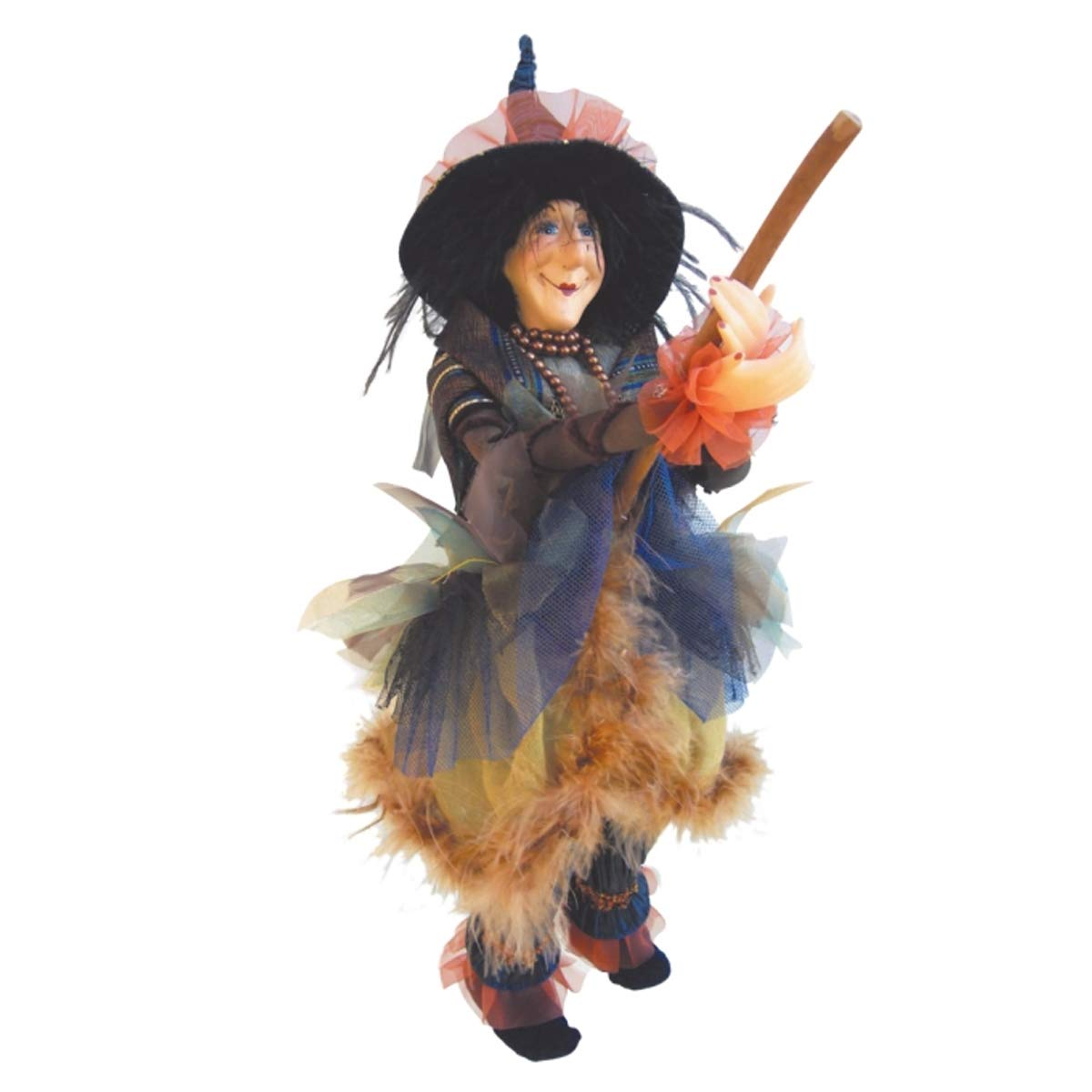 Witches of Pendle - Chattox Witch Flying (Blue) 45cm 5538-5