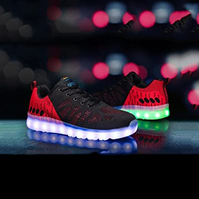 LED Shoes LED Shoes Flashing Breathable Athletic Shoes Casual Shoes Ghost Steps Dance Shoes (Color : Green Size : 40)