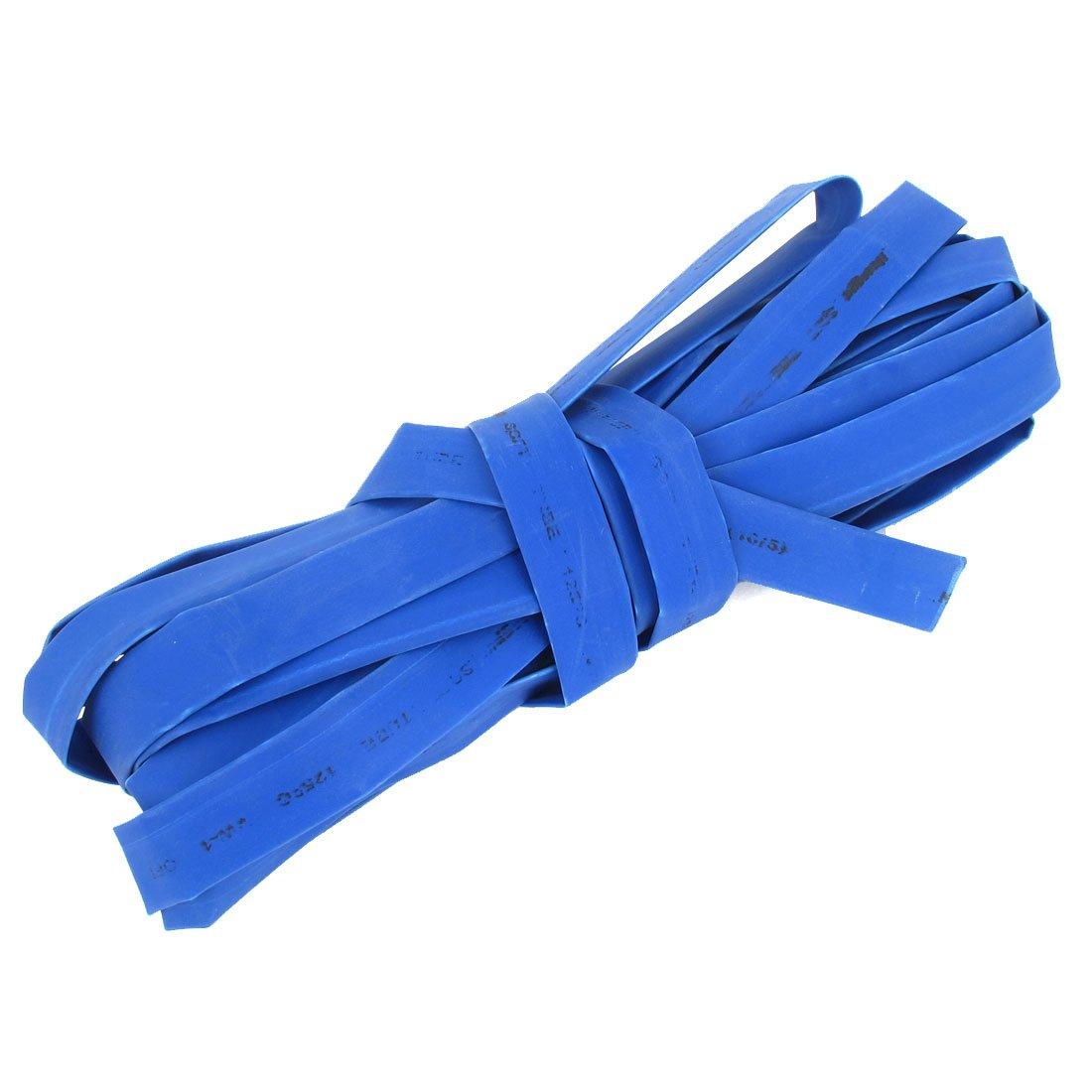 10mm Dia. Heat Shrinkable Tube Shrink Tubing 7.5m Length Blue Sourcingmap a14072400ux0126