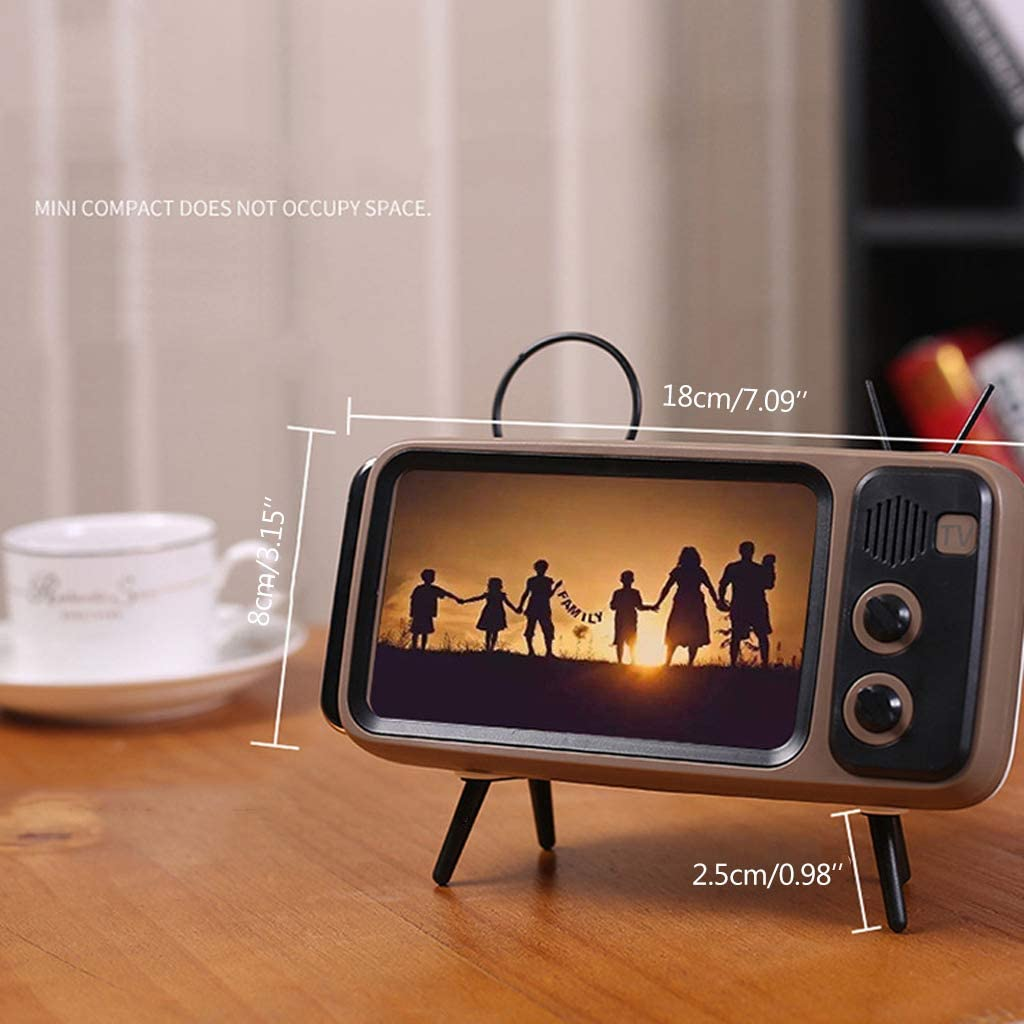 MEIYIN Mini Speaker Retro TV Mobile Phone Screen Stand Wireless Bluetooth Portable Audio Speakers CF