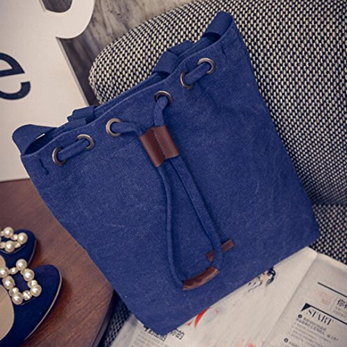 Large Body Capacity TOPUNDER Ladies Shoulder Bag for Handbags F Women Canvas Blue Bags Cross Y4FYwx5X