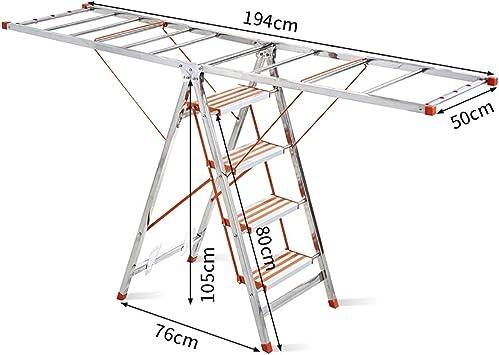 Escaleras Tendedero + escalera plegable, Escalera portátil de aluminio de 4 pasos, Escalera de tijera, Escalera telescópica, Oficina de uso múltiple for uso doméstico: Amazon.es: Bricolaje y herramientas